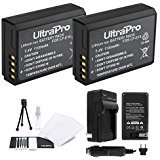 LP-E10 Battery 2-Pack Bundle with Rapid Travel Charger and UltraPro Accessory Kit for Select Canon Cameras Including EOS Digital Rebel T3, T5, T6, 1100D, 1200D, 1300D, Kiss X50, and X70