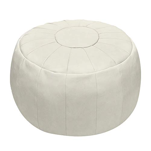 - Rotot Unstuffed Pouf Cover, Ottoman, Bean Bag Chair, Foot Stool, Foot Rest, Storage Solution or Wedding (Empty & New) (Beige)