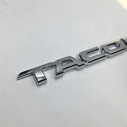 (3D Car Stickers and Decas Chrome Door Tailgate Emblem Badge Decal Sticker 29525mm for Toyota Tacoma 2005-2015 JDM Car Sticker (Silver))