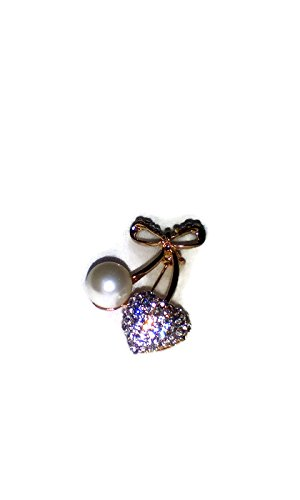 Brooch Heart Fashion - With Dior Rhinestones Eyeglasses