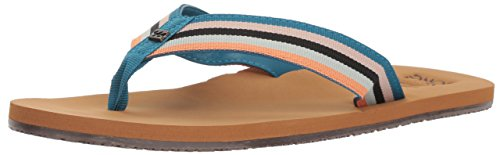 Billabong Women's Baja Flip-Flop, blue multi, 6 M US