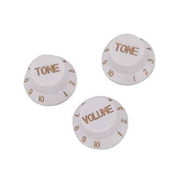 3pcs velocidad perilla de tono del volumen de la guitarra eléctrica Set Blanco: Amazon.es: Juguetes y juegos