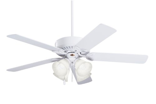 Emerson Ceiling Fans CF711WW Pro Series II Indoor Ceiling Fan With Light, 50-Inch Blades, Appliance White Finish