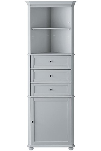 Delicieux Hampton Bay Corner Linen Bath Cabinet I, 3 DRAWER, DOVE GREY