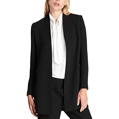 DKNY Womens Chain Detail Open Front Topper Jacket Black 6 (Dkny Cotton Coat)