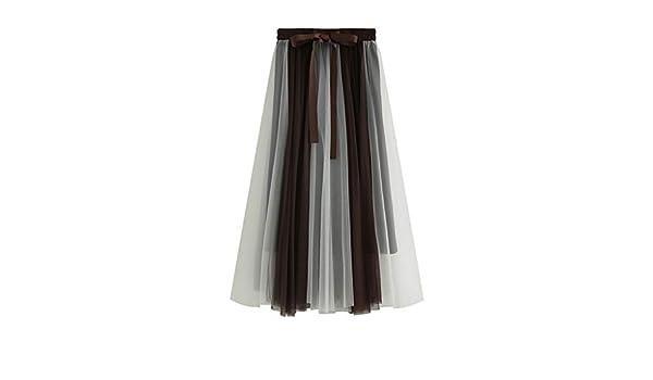 Proumy Falda de Gasa Verano Mujer Vestido Plisado Minifalda ...