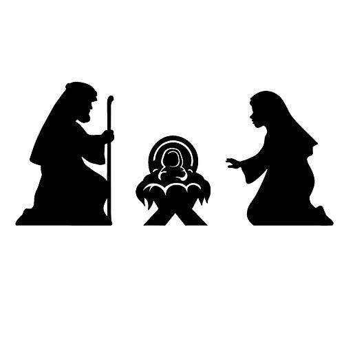 Fun Express - Nativity Silhouette Cutouts for Christmas - Party Decor - Wall Decor - Cutouts - Christmas - 3 Pieces for $<!--$9.69-->