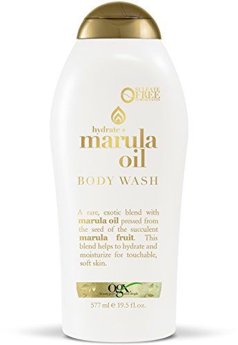 OGX Marula Oil Body Wash 19.5 Ounce Moisturizing Body Wash Formulated for Dry Skin Oily Skin Normal Skin Combination Skin, with Marula Oil, Silicone Free