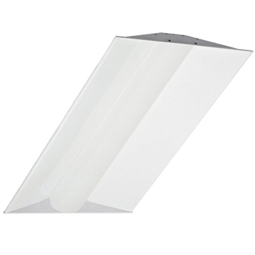 LED 2x4 Volumetric Troffer - 42W White Frame Retrofit, Dimmable, 4000K (Cool White), 5400 Lumen, DLC Qualified and ETL Listed