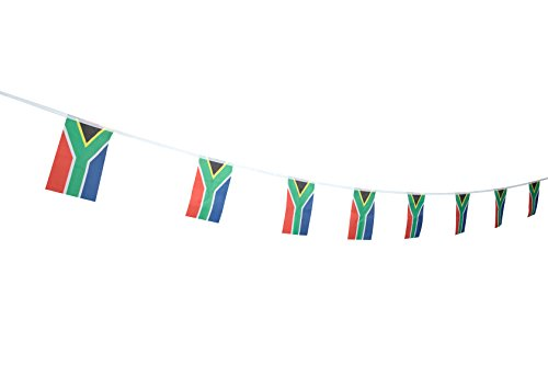 TSMD South Africa Flag, 100 Feet South African Flag National Country World Pennant Flags Banner,Party Decorations For Grand Opening,Olympics,Bar,World Cup,School Sports Events,International Festival