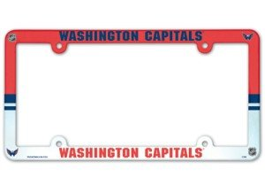 NHL Washington Capitals Full Color License Plate Frame, Team Color, One Size