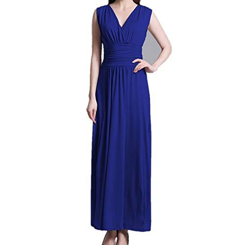 BBethun Jupe Longue sans Manches Taille Haute sans Manches (Color : Blue, Size : XL) Blue