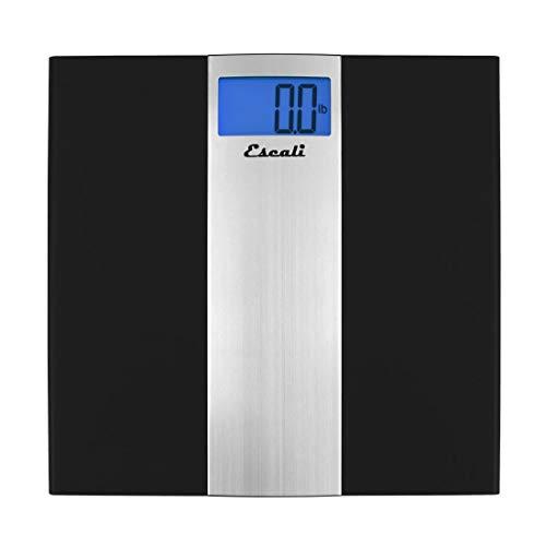 Escali US180B Ultra Slim Digital Bathroom Scale, 400Lb/180Kg