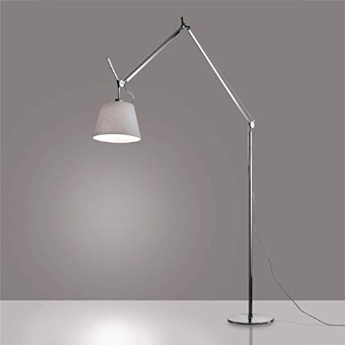 Artemide Tolomeo Mega Floor Lamp for Home Decor 12 Inches - Color Aluminum Parchment - Traditional Bulb