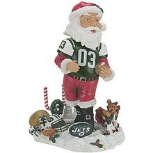 (Forever Collectibles NFL New York Jets Santa Claus Bobblehead)