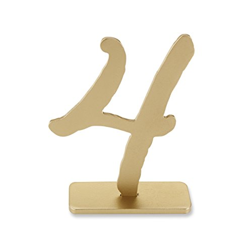 Kate Aspen Good As Gold' Classic Table Numbers, 1 to 6