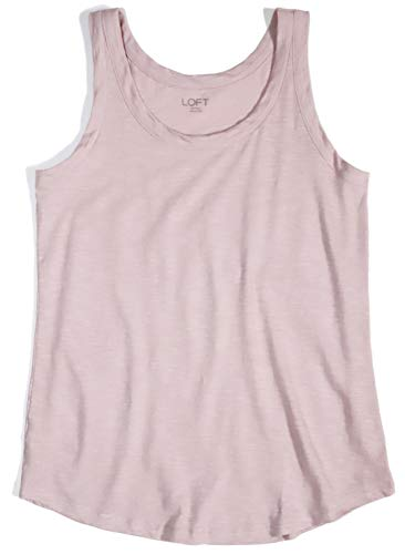 Ann Taylor LOFT Outlet Women's Sand Washed Cotton Tank (Dusty Pale Pink, XS) from Ann Taylor LOFT