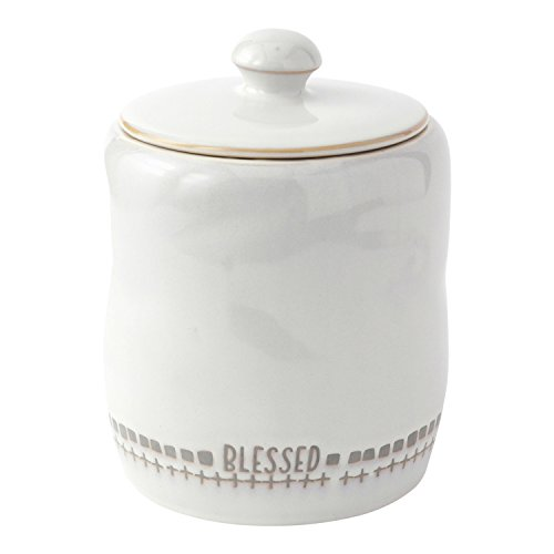Hallmark Home White Stoneware Canister with