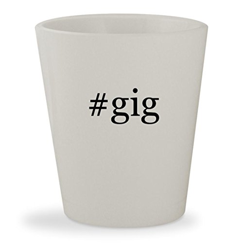 Price comparison product image #gig - White Hashtag Ceramic 1.5oz Shot Glass