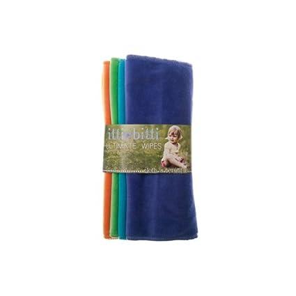 Toallitas lavables de Itti Vitti. 5 suaves toallitas de velur perfectas para la delicada piel