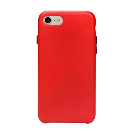 Coohole New Fashion Leather Slim Protective Case Cover Shell For iPhone 7 Plus 5.5 Inch (Red, iPhone 7 Plus 5.5 Inch)