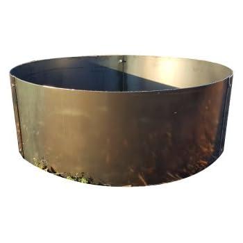 Amazon Com Steel Fire Pit Ring Liner 2 Quot Top Flange 36 Quot X