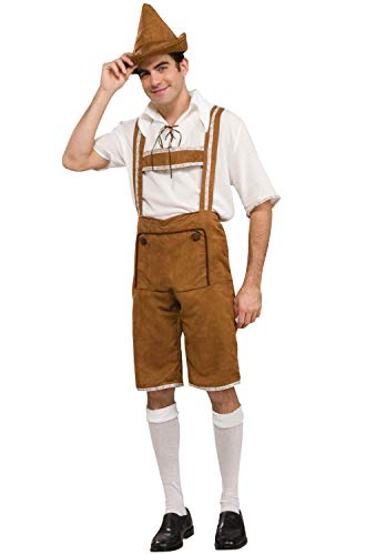 Men's Hansel Costume, Brown/Off White, One