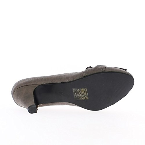 Schuhe gemalt schwarze Frau 8cm Absatz