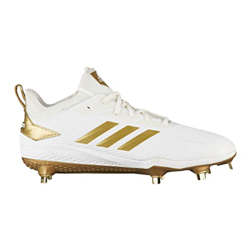 the best attitude f8292 01721 adidas Mens Adizero Afterburner V Metal Baseball Cleats (12, WhiteGold)