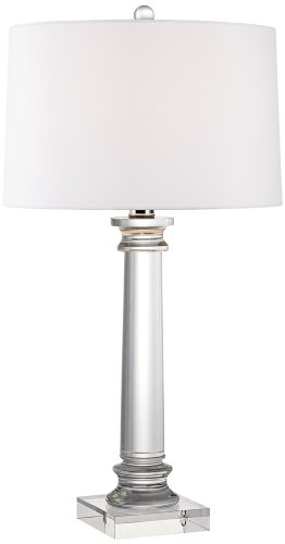 - Vienna Full Spectrum Modern Crystal Column Table Lamp