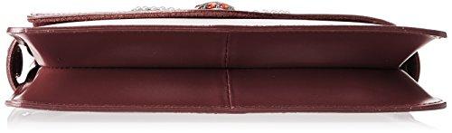Chicca Borse 8801, Borsa a Spalla Donna, 28x19x5 cm (W x H x L) Rosso (Bordo)
