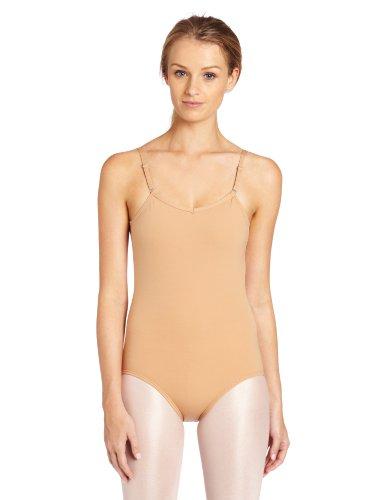 Capezio Women's Camisole Leotard With Adjustable Straps,Light Suntan,Large