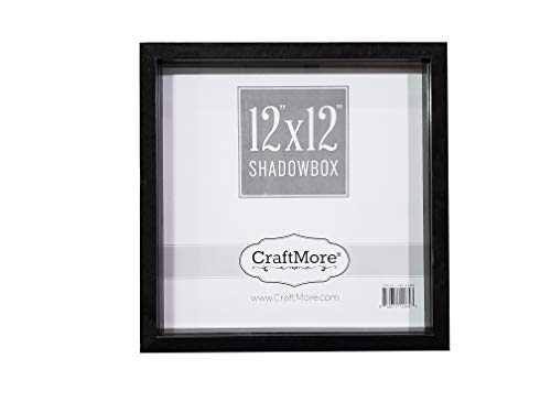 CraftMore-Shadow-Box-Frame-12×12-Inches-Black