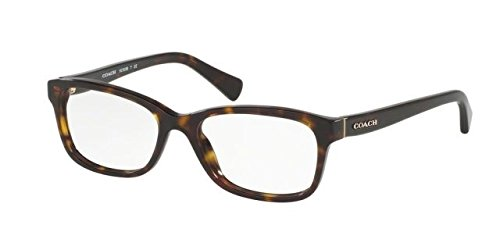 Coach HC 6089 5120 Dark Tortoise Plastic Rectangle Eyeglasses - Tortoise Eyeglasses Coach