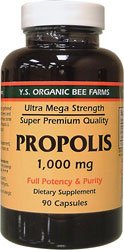 Propolis-Raw Unprocessed 1000mg - 90 - Capsule