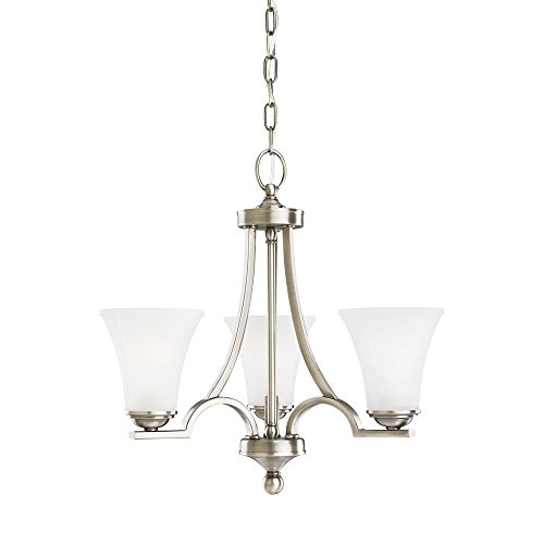 Sea Gull Lighting 31375EN3-965 Somerton Chandelier, 3-Light LED 28.5 Total Watts, Antique Brushed Nickel