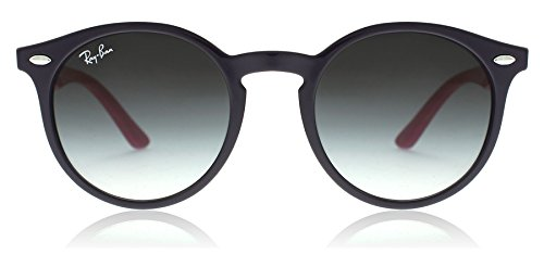 RAY-BAN JUNIOR Kids' RJ9064S Round Kids Sunglasses, Violet/Grey Gradient, 44 mm by RAY-BAN JUNIOR