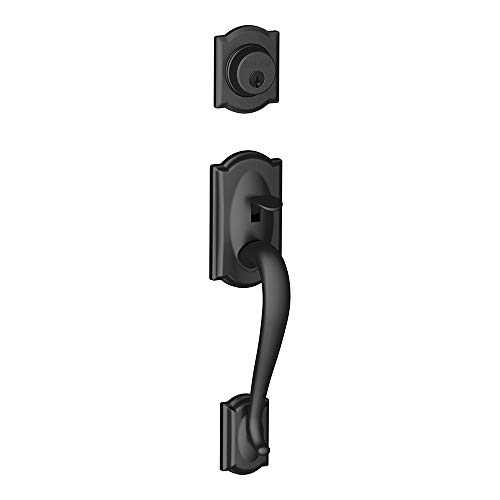 Schlage F92-CAM Camelot Dummy Exterior Handleset from The F-Series, Matte Black Bronze F-series Accent Accent