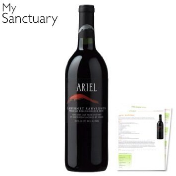 Ariel Cabernet Sauvignon Non-Alcoholic Red Wine by MY (Cabernet Sauvignon Chocolate Wine)