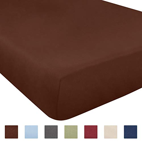 (Twin XL Size Fitted Sheet - Single Fitted Sheet XL Twin - Fitted Sheet Only - Fitted Sheet Deep Pocket - Fitted Sheet for Twin XL Mattress - Softer Than Egyptian Cotton - 1 Fitted Twin XL Sheet Only)