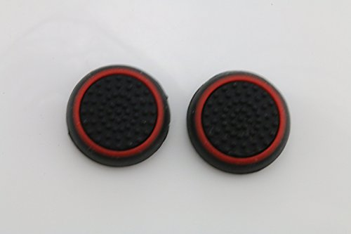 Silicone Analog Joystick Caps for PS4, XBOX ONE - Black Red (2PCS) - 2