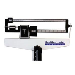 Health O Meter 402LB Mechanical Beam Scale, Height Rod, 400 lb. Capacity, 10-1/2