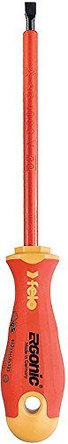 Felo 0715753143 3/16 VDE Series 400 Ergonic Slotted Insulated Screwdriver, 5 by Felo ()