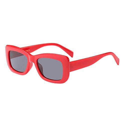 UV Red Vacances Piscine Rectangle de Voyage Zhhlinyuan Les Protection Lunettes Conduite Mode pour Soleil Plage Femmes FvZxwO