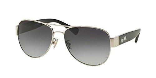 COACH Women's 0HC7059 Silver/Black/Light Grey Gradient - Coach Women Glasses