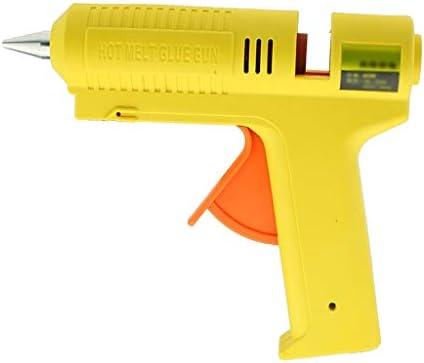 Minmin 60Wホットメルト接着ガン急速暖房最大マズル恒温クラフト修復ツール、子供の手工芸品、イエロー ミニ (Color : Yellow)