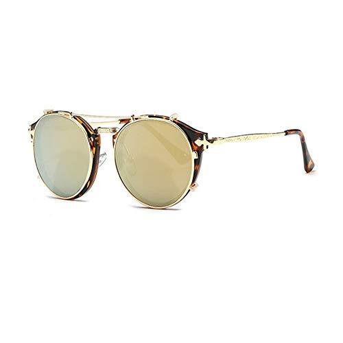 sunglasses sunglasses pink Double retro retro sunglasses 04 ladies lens gold DERTILP lens sunglasses Lunettes C4q4xt