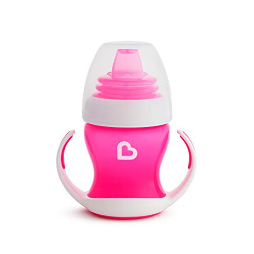 Munchkin Gentle Transition Trainer Cup, 4 Ounce, Pink