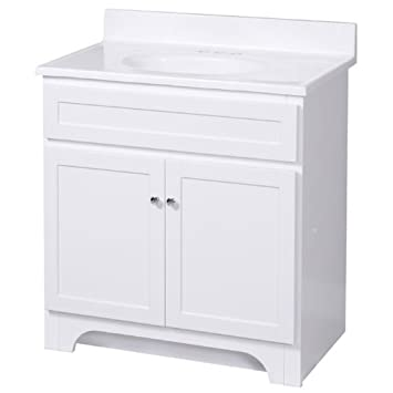 foremost cowat3018 columbia 30inch white vanity with marble top