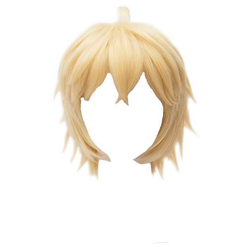 Kadiya Blonde Short Cosplay Wig Heat Resistant Synthetic Hair